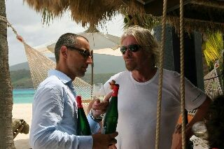 Martin DIndoš a Sir. Richard Branson Winemakers Dinners 2009