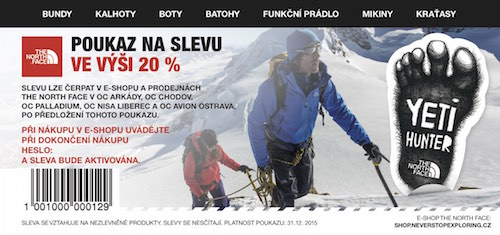 The North Face voucher